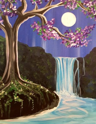 Moonlit Waterfall